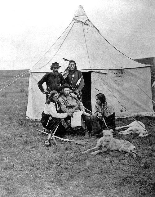 George A. Custer and Bloody Knife