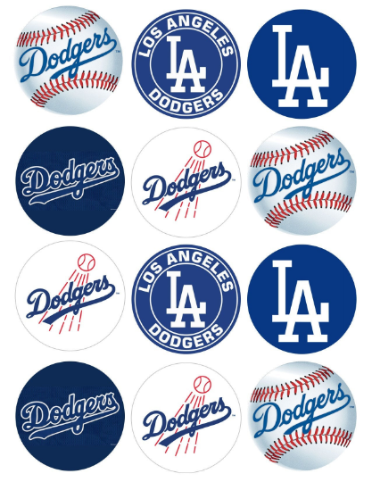 Los Angeles Dodgers Edible Cake Topper Icing Sugar Paper