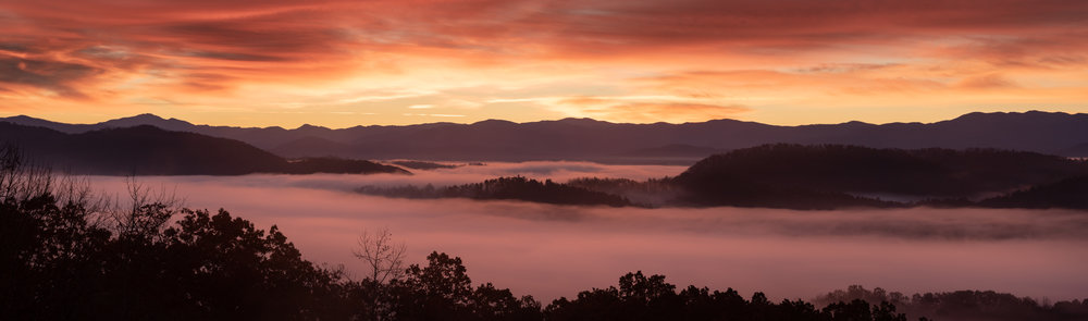 Sunrise off Foothills Parkway GSMNP.