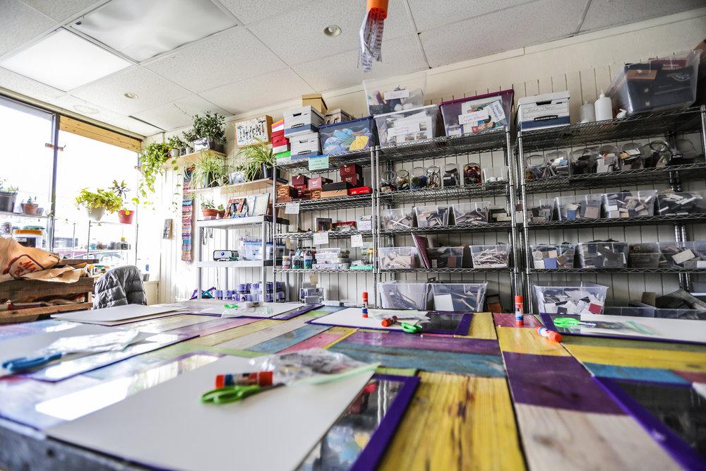 Inside TBSP's storefront at 511 Medford St. Somerville, MA