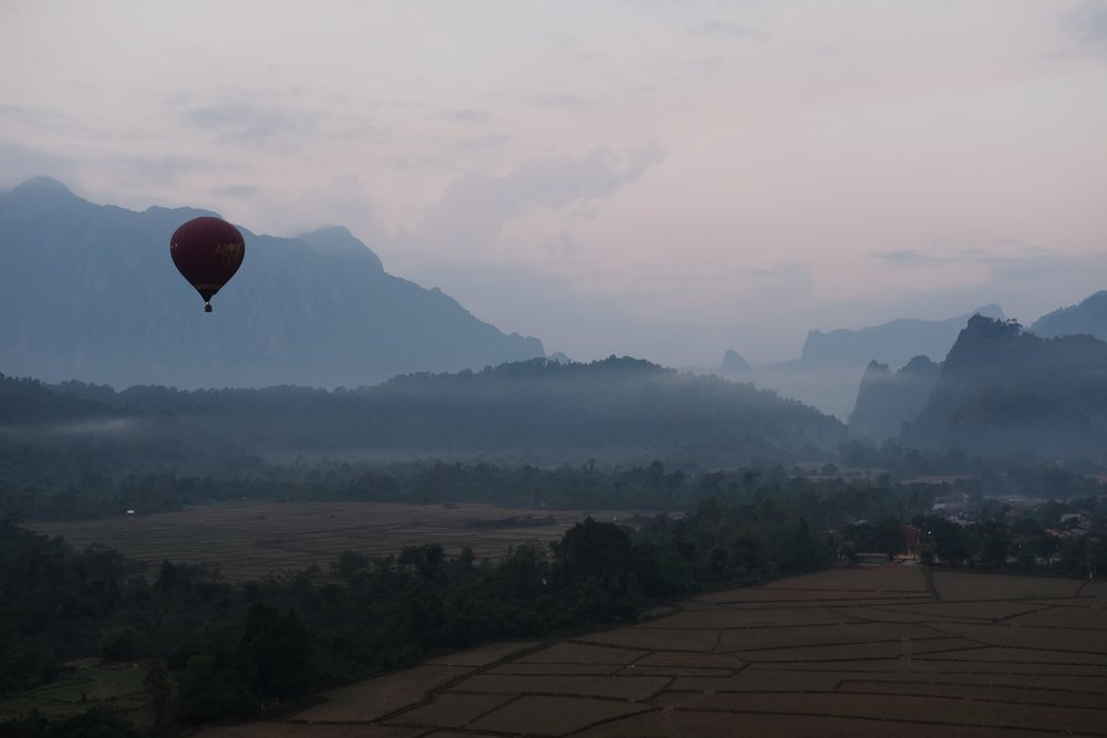 1 - hot-air balloon ride in Vang Vieng