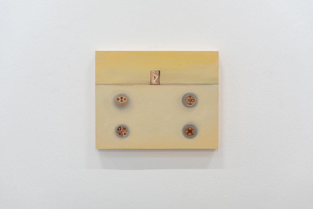 4.   Mono Lake (Four of Discs)  2018 Oil on panel 8 x 10 inches