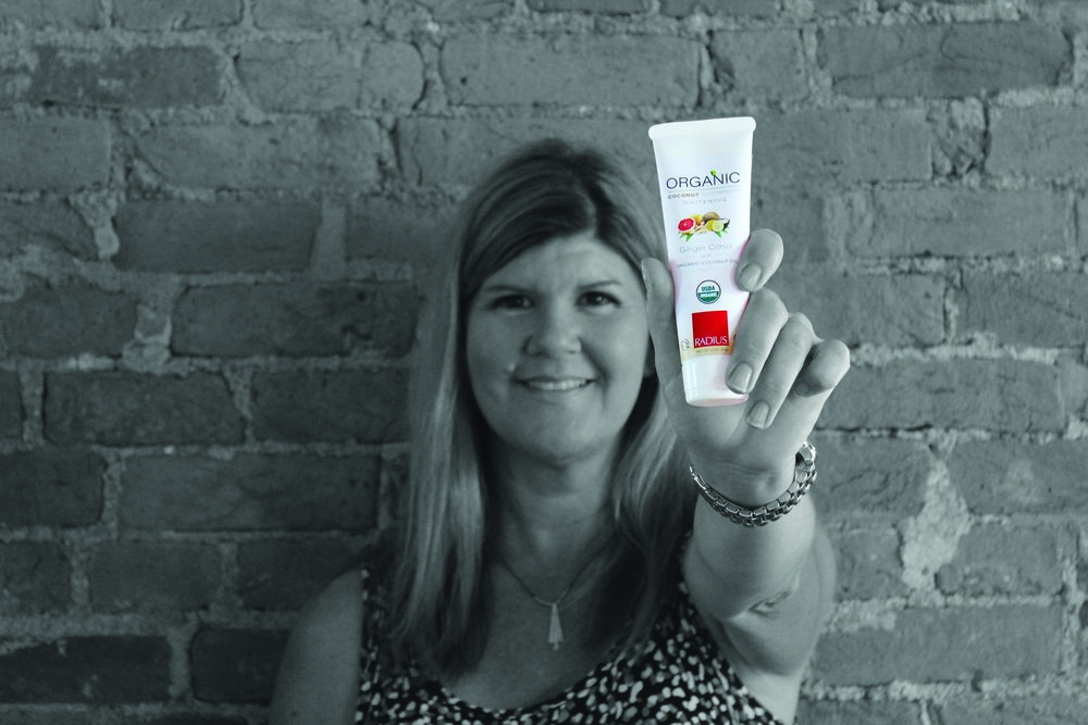 Tammy Schienke   Western Regional Sales Manager    Favourite RADIUS Product & Why?   The TOUR travel toothbrush™, because I travel a lot, and it's the only travel brush with replaceable heads. I love being able to keep re-using the case.   Favourite fact about RADIUS?   That we are now Certified Women-Owned! It's something to be proud of.   Best Thing About Working for RADIUS?   A great team of people, who really care about making a product that is fun, good for the environment, and that really works!