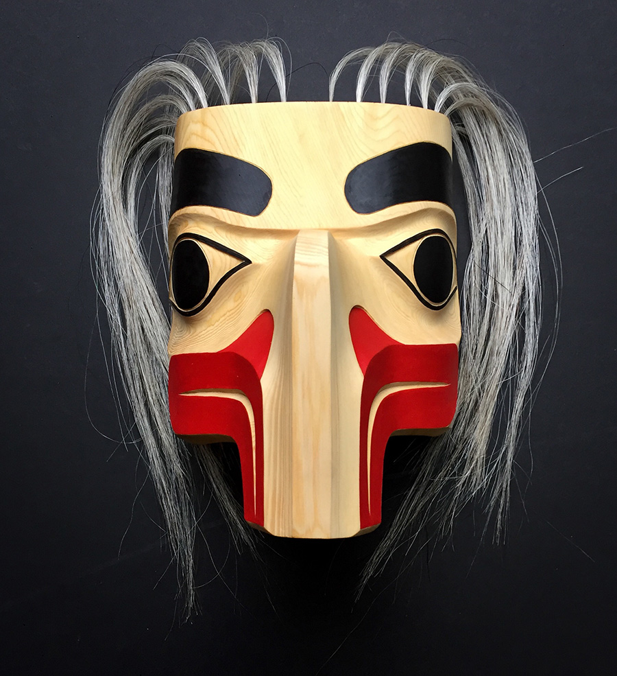 Eagle Mask / Yellow Cedar