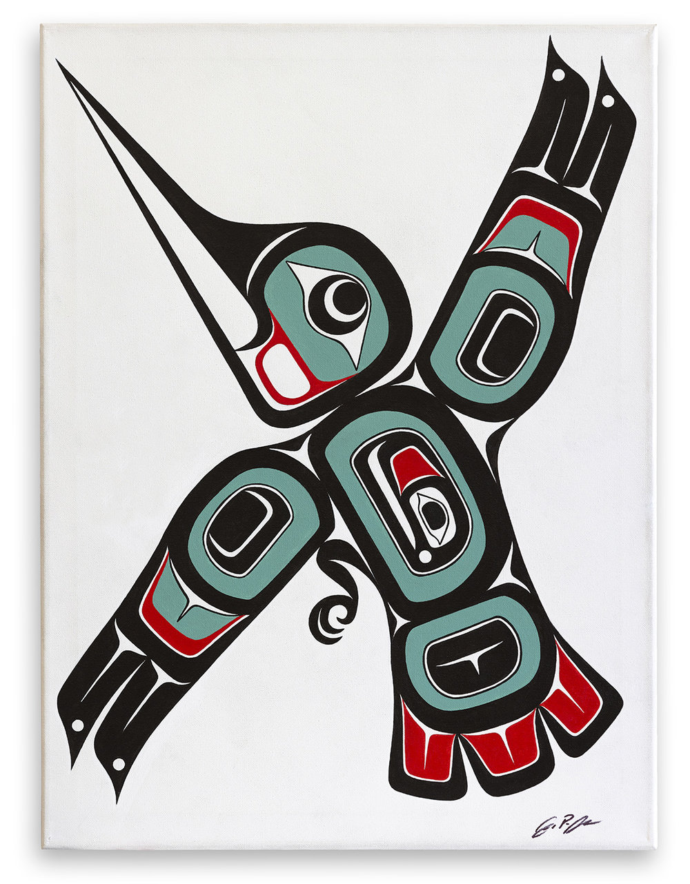 Hummingbird / Acrylic on Canvas