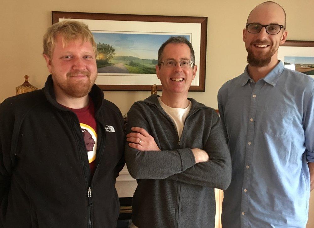 Andrew Kozar (left); Steven Kozar (center); John Wiedenbeck (right)