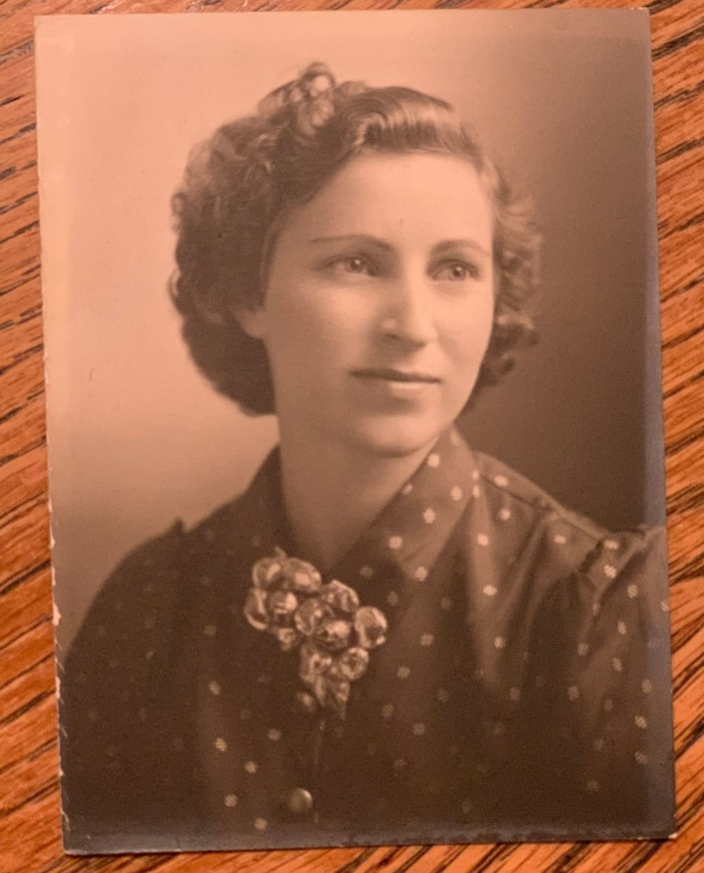 A photo of my grandma, Doris, taken after her high school graduation