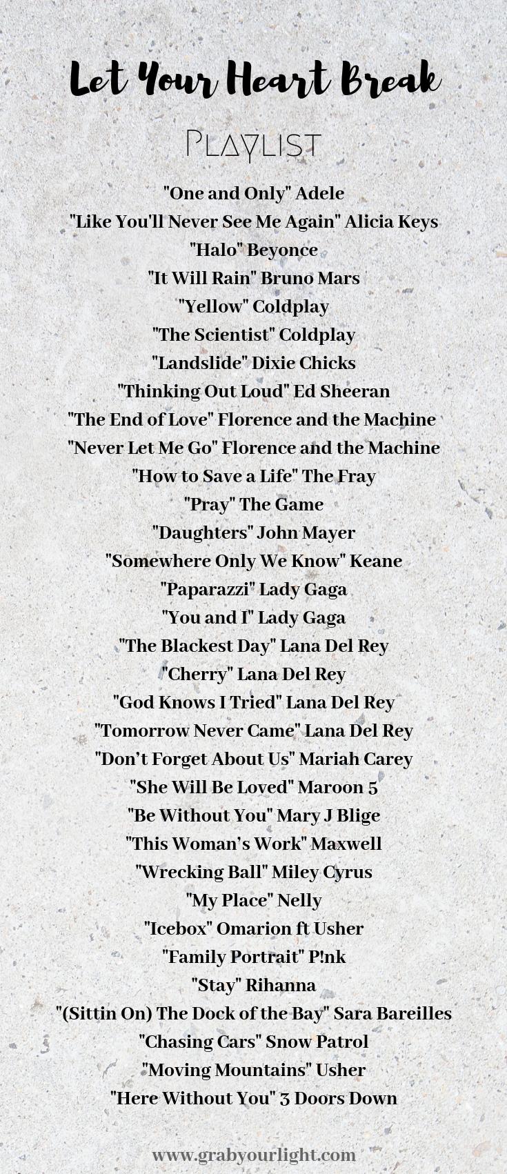 GrabYourLight Heart Break Playlist.png