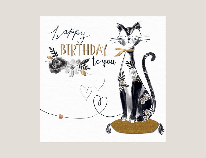 Manuka - Featuring a striking and stylish black and gold design on an elegant white board, Manuka makes a big impression.The designers have added gold foil and gold glitter, emboss and a cute heart embellishment to make this range extra special..