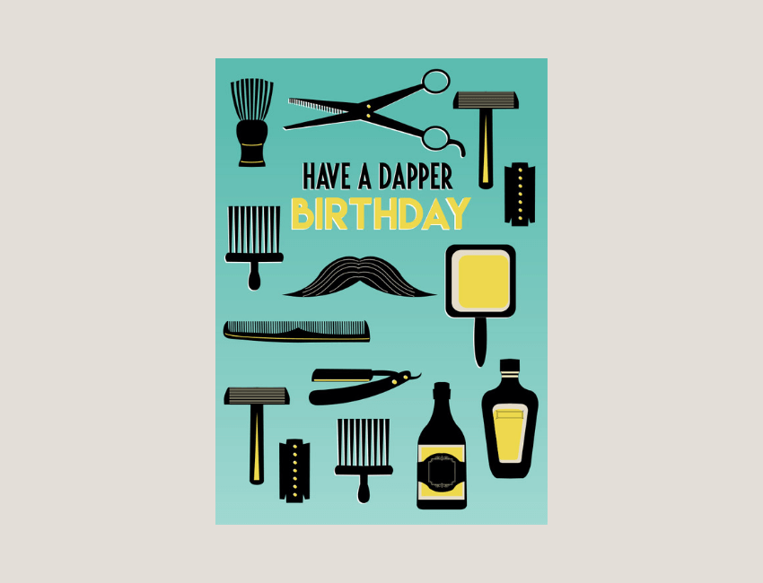 Dapper - A stylish range with a retro feel, influenced by vintage advertising and art prints.In the range you'll find an eclectic mix of pattern based graphic designs, overlaid with a mix of typography and fonts, all brought out by a bold colour palette.