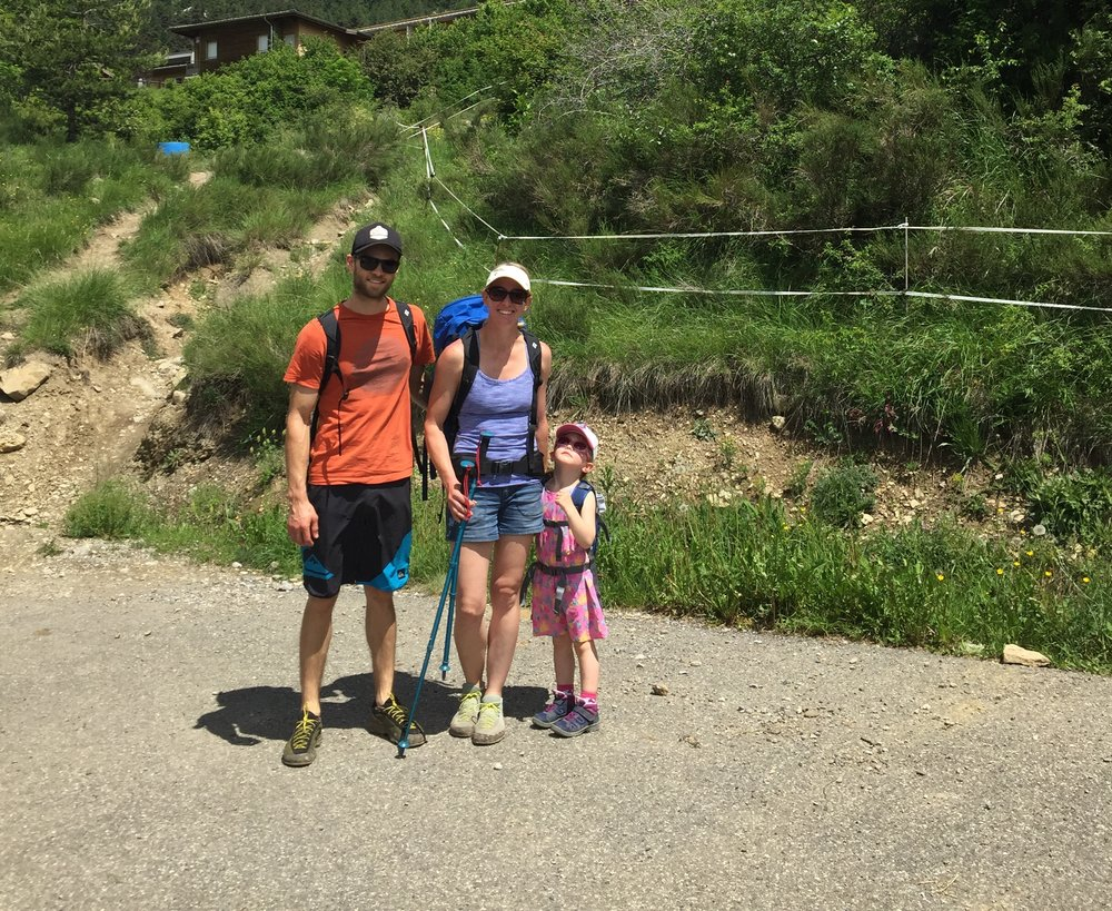 Family walk up to Ceuse, June 2018