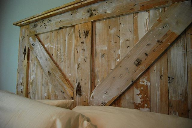 - distressed pine with whitewash