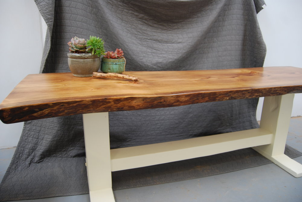 - douglas fir slab on trestle base