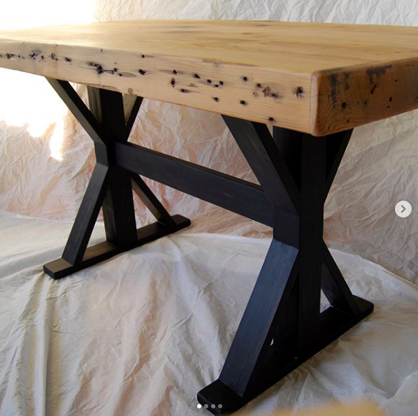 - reclaimed joist farmhouse table