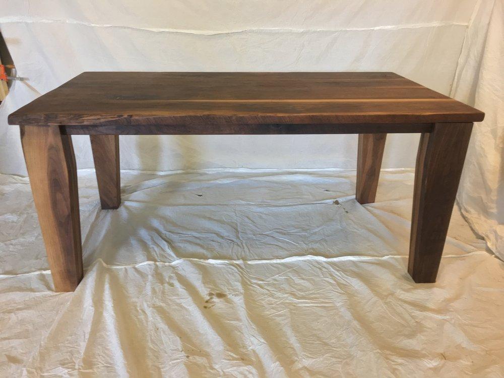 - walnut farmhouse table