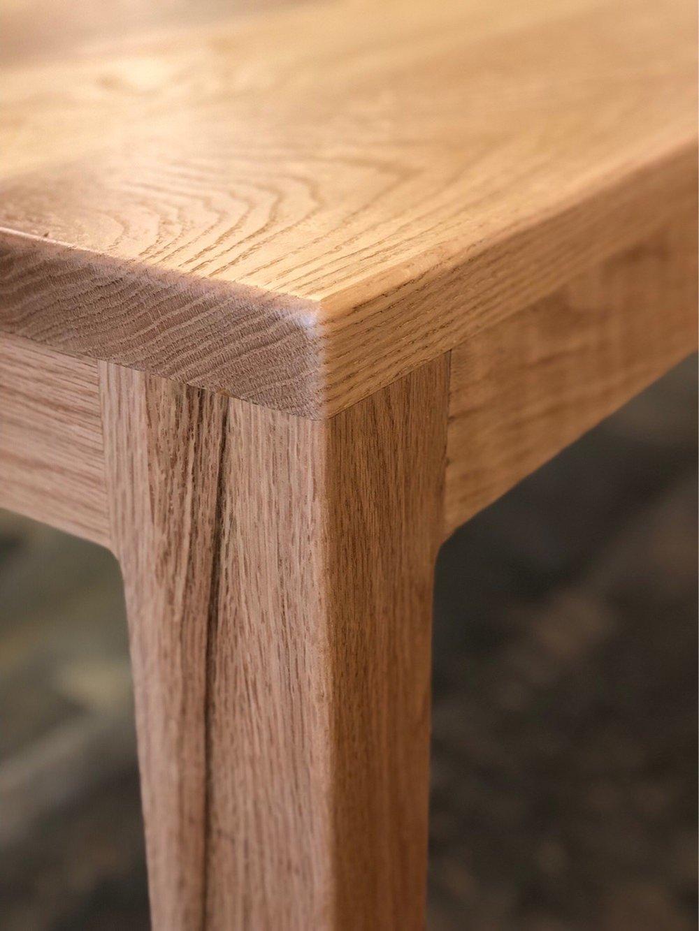 - white oak dining table