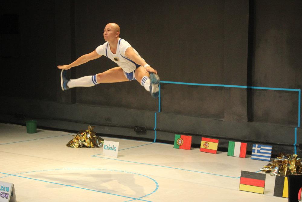 Daniel Kok  in  Cheerleader of Europe.  Photo by Sidharth Sarcar.