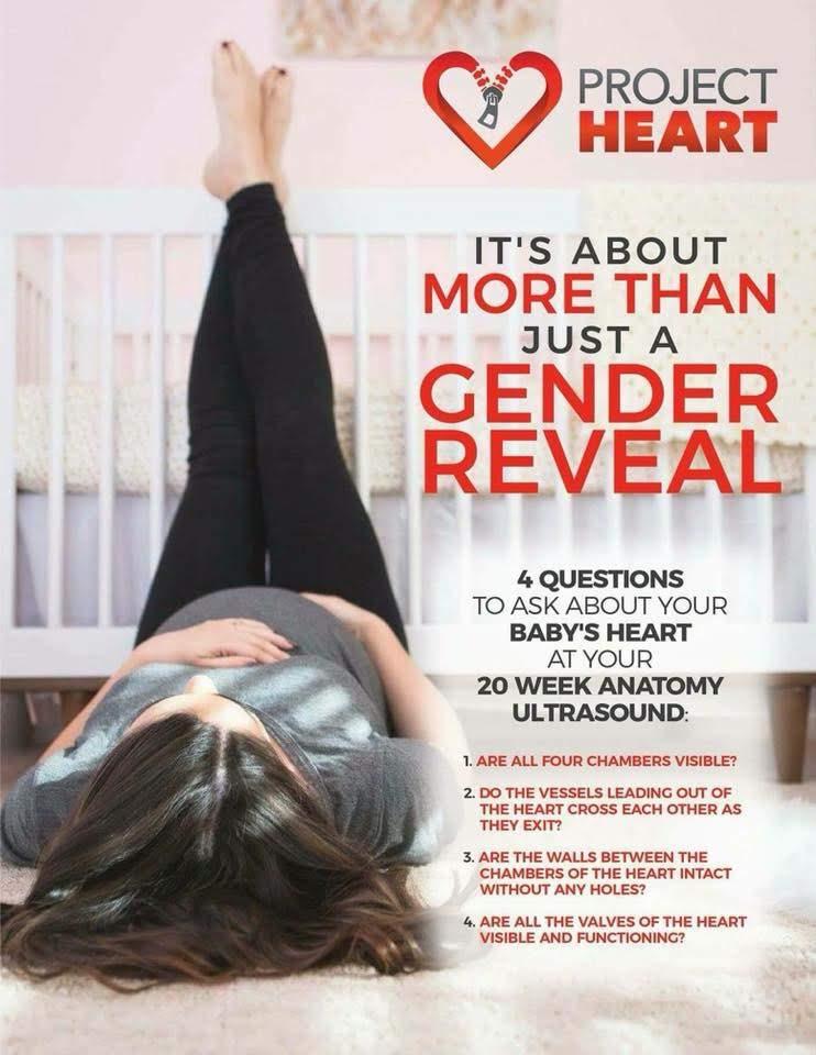 Gender Ultrasound heart defect