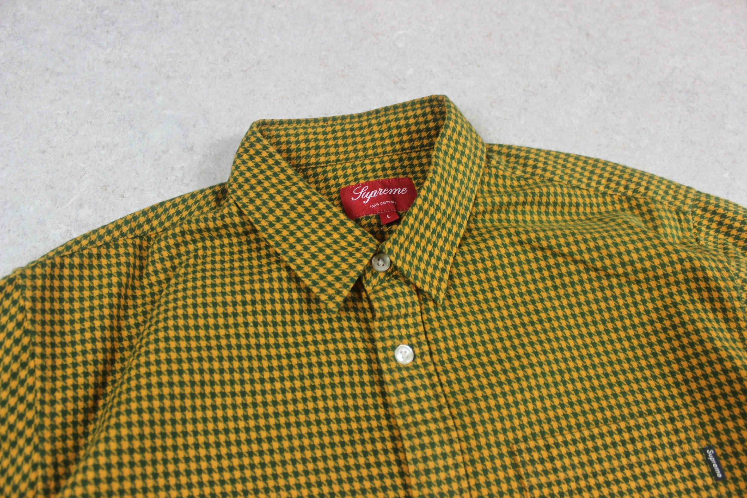 420f6679e66e Supreme - Shirt - Yellow/Green Check Flannel - Large — melior.