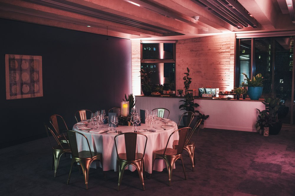 Private dinner and dessert station in the Park Room