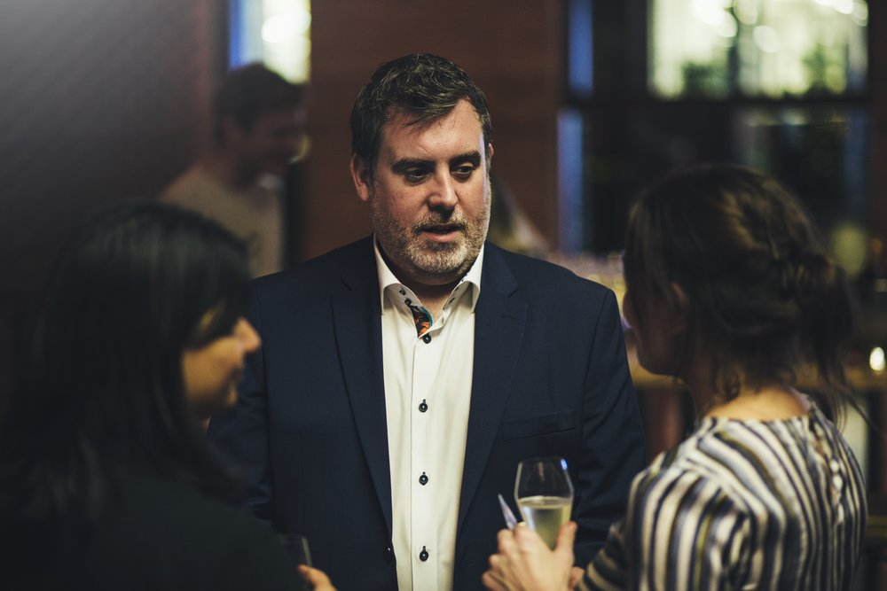 Our General Manager Adian chatting with guests