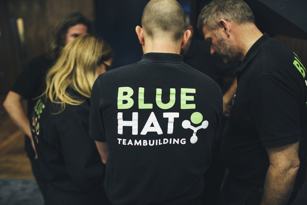 The Blue Hat team hard at work