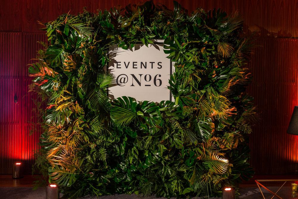 Events @ No 6 Foliage Wall