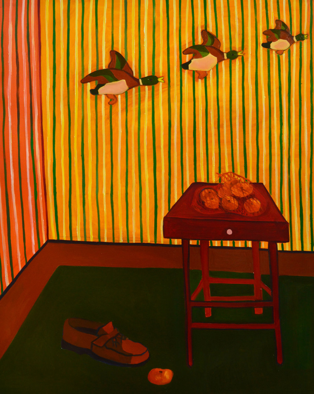 Ducks, Shoe, Tangerine