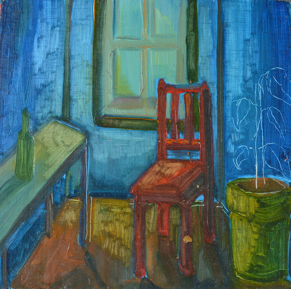 Study of a window and chair