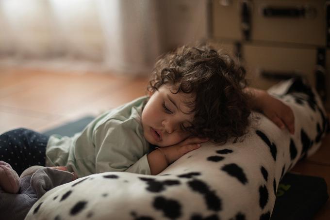 enfant-qui-dort-sur-un-chien