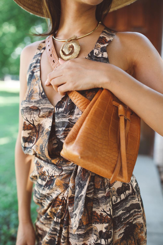 Sophie dress  | €275  Minee bag  | €350