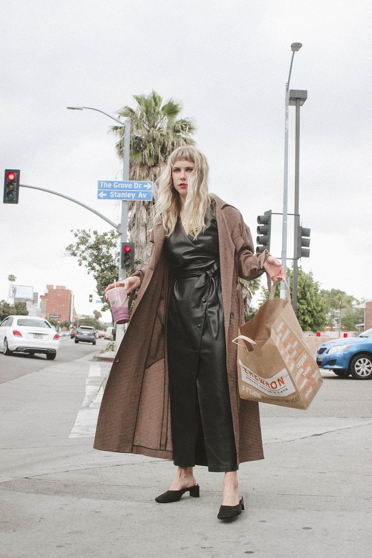 Penelope dress  | €570  Noir coat  | €520