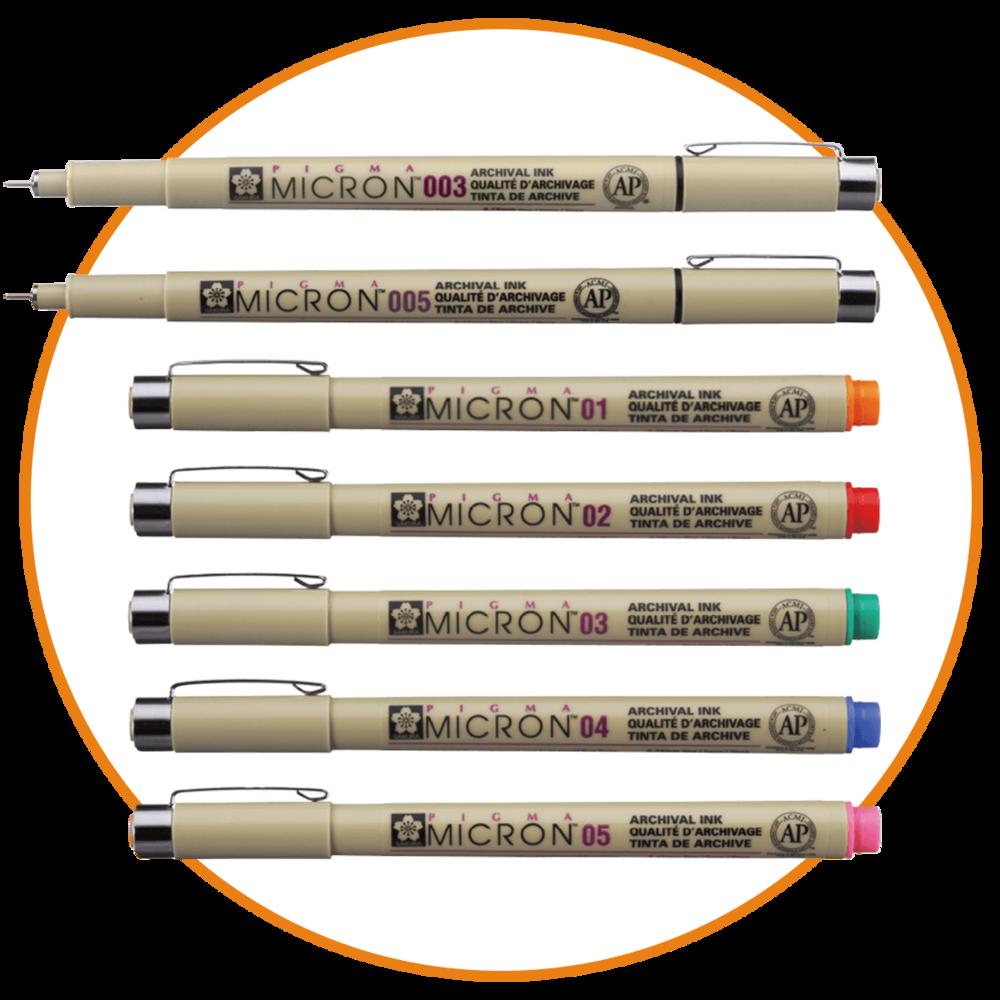 Marcadores - Marcadores MicronMarcadores PrismacolorSharpies Finos, Gruesos y DoblesBoligrafos PentelBoligrafos Pilot V5 y V7