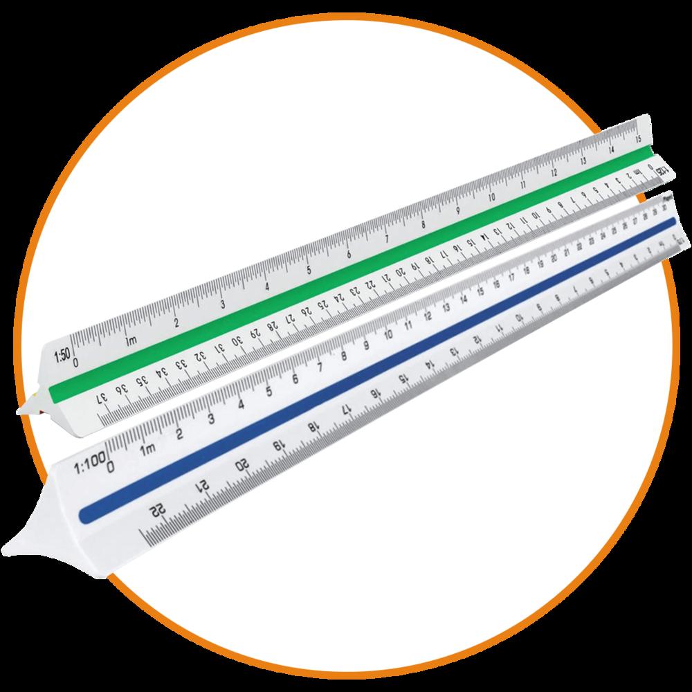 Instrumentos - Escalas de arquitecto plásticas y metalEscalas de ingeniero plásticas y metalEscalas métricasEscalas proporcionalesCintas métricasCalculadoras