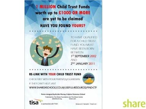1 Million Child Trust Funds worth up to £1000 or more