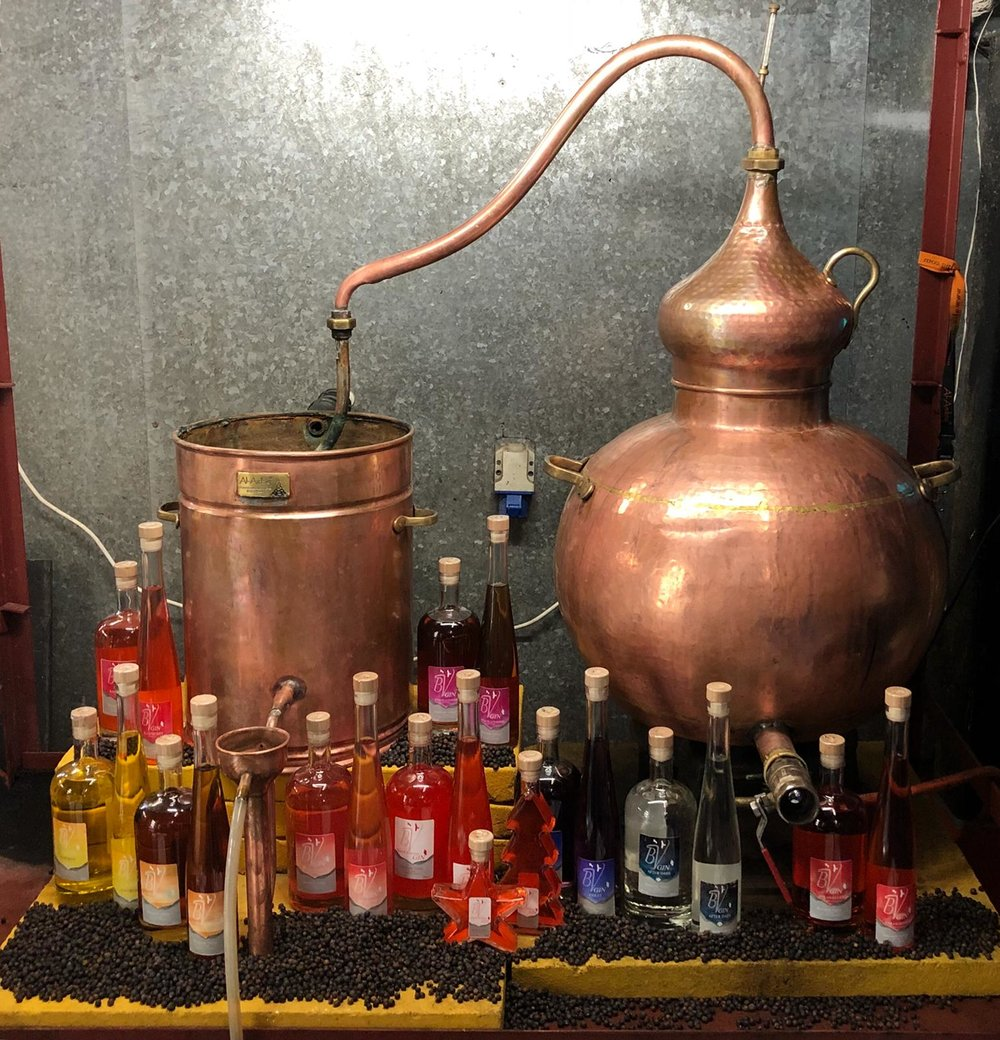 Ivan the still - Our copper still is named Ivan after the business founder, Ivan Jones.