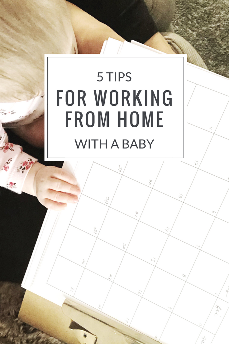 5 tips for working from home with a baby