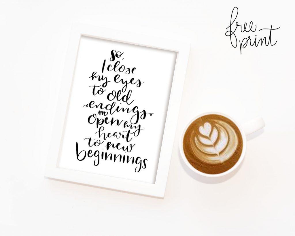 new beginnings free print