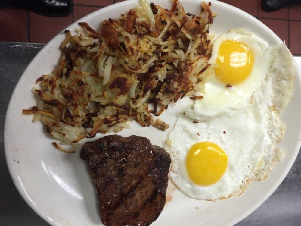 Sirloin Steak and Eggs