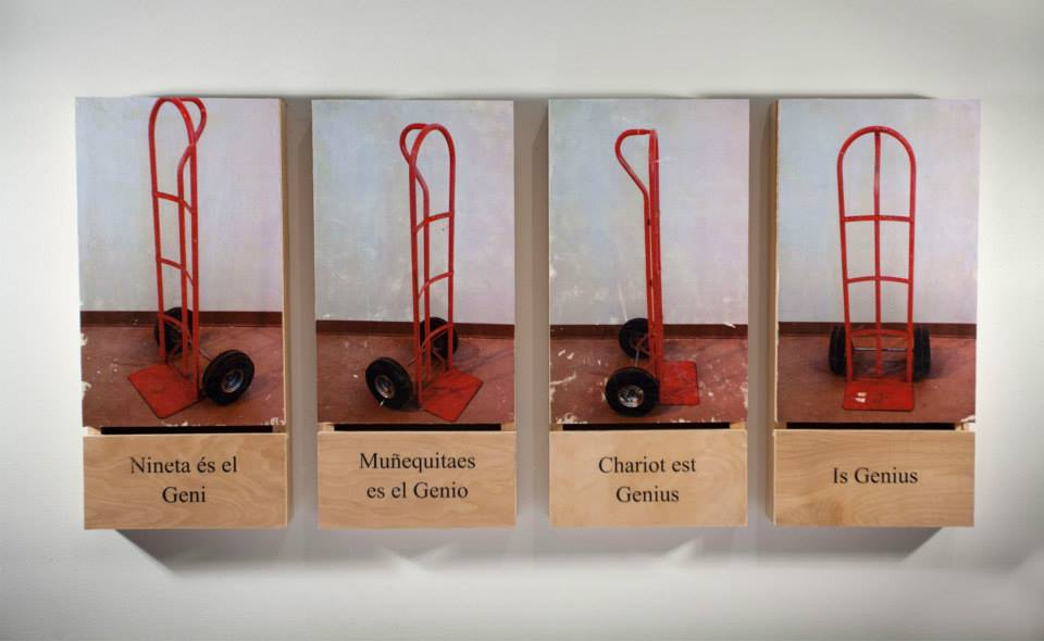 Dalí Is Genius Photo Transfer on Wood
