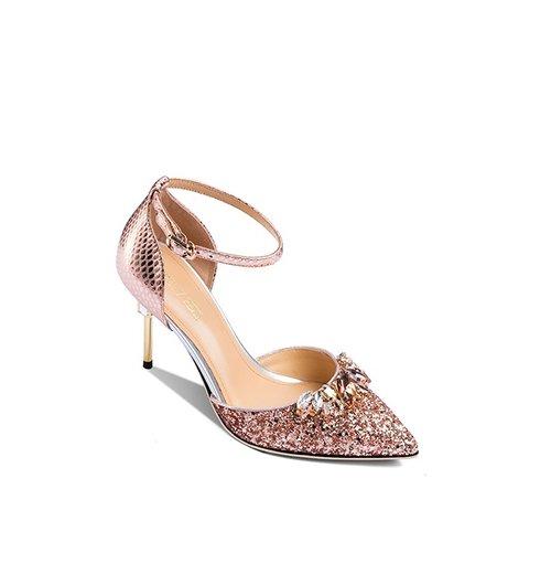 114fad7137 Shimmer pointed stiletto shoes bright crystal rhinestone wedding pumps -  Czech