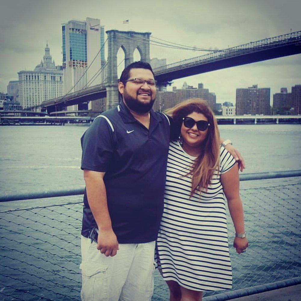 Visiting New York City.