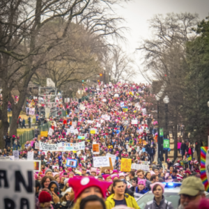 Hundreds of thousands marched in Washington, DC the day after the inauguration of President Trump.