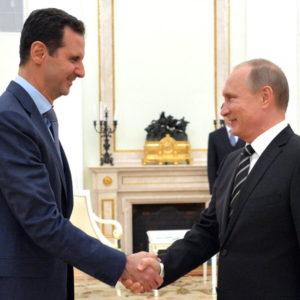 President Vladimir Putin of Russia with Syrian President Bashar al-Assad. Source: Wikimedia