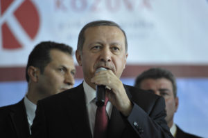Turkey's President Recep Tayyip Erdogan speaks in Somalia in 2015 (Wikimedia Commons)