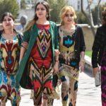 The News International: Women in Tajikistan wearing traditional clothing.