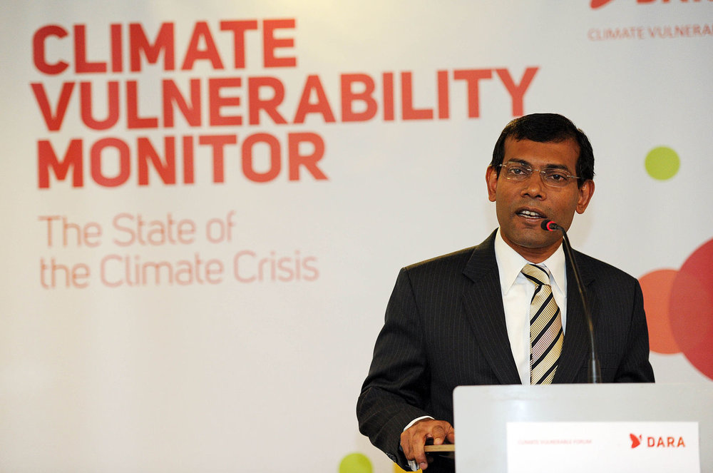 After Mohamed Nasheed (above) withdrew, Ibrahim Mohamed Solih entered the Maldivian opposition's presidential ticket.