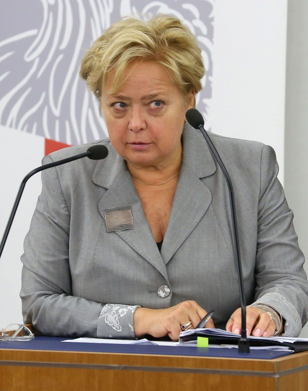 Polish Supreme Court Chief Malgorzata Gersdorf pictured during a 2014 sitting of the Polish Senate. WIkimedia Commons.