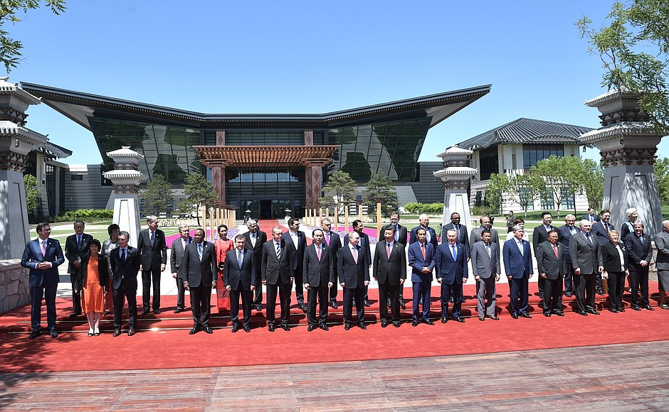 Dozens of leaders from countries included in the Belt and Road Initiative attended a roundtable in Beijing in 2017. (Kremlin)