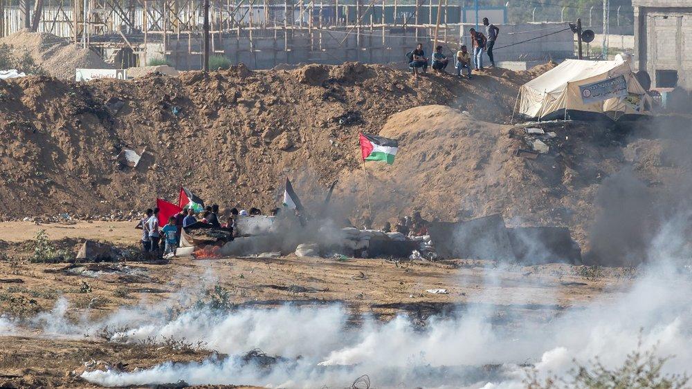Gazans in the Bureij refugee camp took part in the 2018 Gazan border protests. (Wikimedia Commons)
